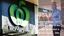 Single mum denied entry to Woolworths because of Covid restrictions