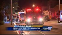 2-alarm fire breaks out at 31st & Lisbon