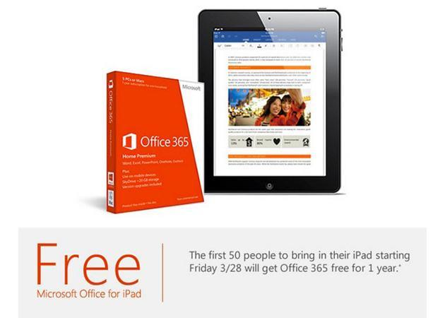 Want a free year of Office 365? Bring your iPad to a Microsoft Store