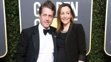Hugh Grant Weds Anna Eberstein in London