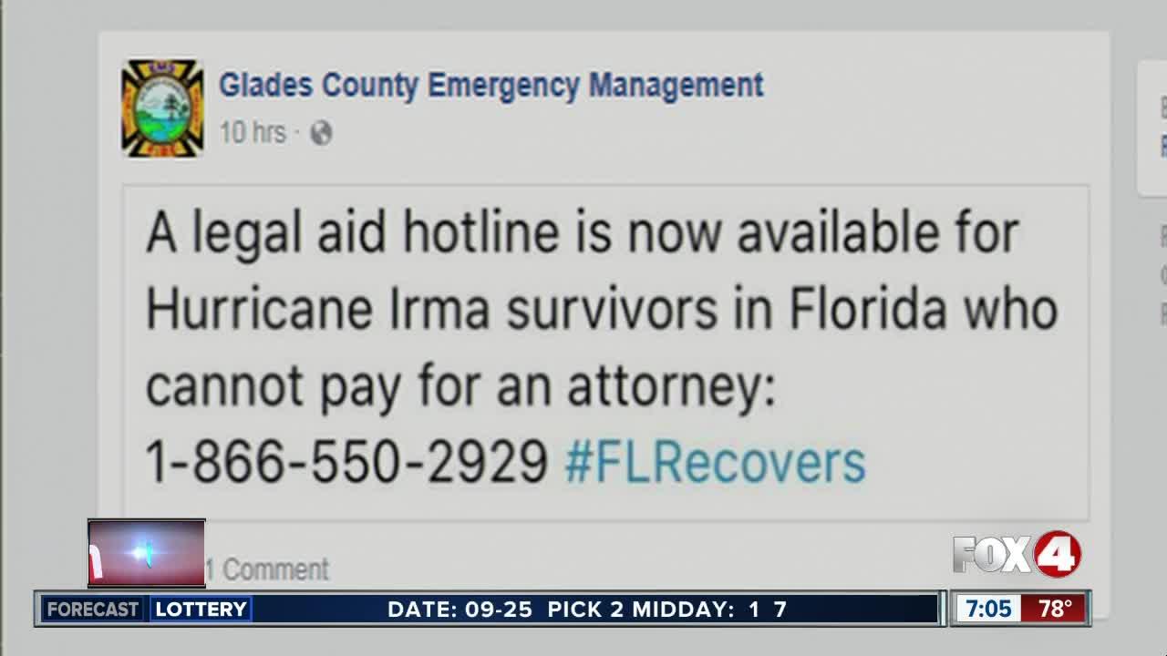Legal aid hotline for Irma survivors [Video]