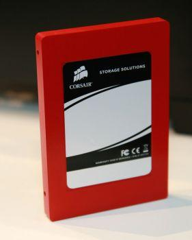 Behold Corsair's Force GT SSD -- flaming red shell and 500 MB/s read and write speeds