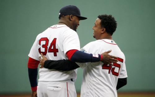 Few know David Ortiz better than Pedro Martinez. (AP Photo)