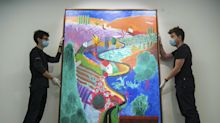 Hockney painting valued at 35 million dollars goes on show ahead of auction