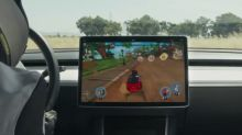 Teslas now have a kart racing game you can play with your steering wheel
