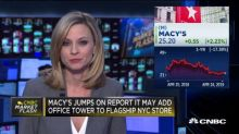 Macy's jumps on report it may add office tower to flagship New York City store