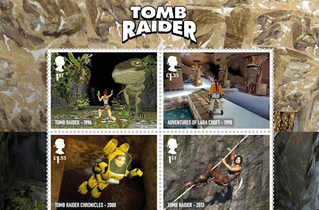 UK honors 'Tomb Raider', 'Worms' and other classics with retro postage stamps