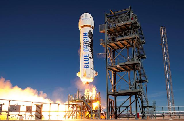Blue Origin's New Shepard wins prestigious aeronautics award