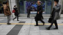 Asian Stocks Fall; China Data in Focus
