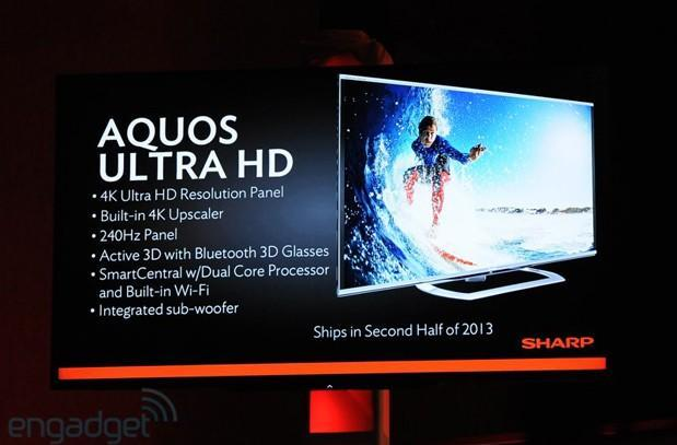 Sharp launches AQUOS Ultra HD panel for second half 2013
