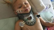 'It's been an emotional roller coaster': Calgary toddler paralyzed after falling on drinking glass