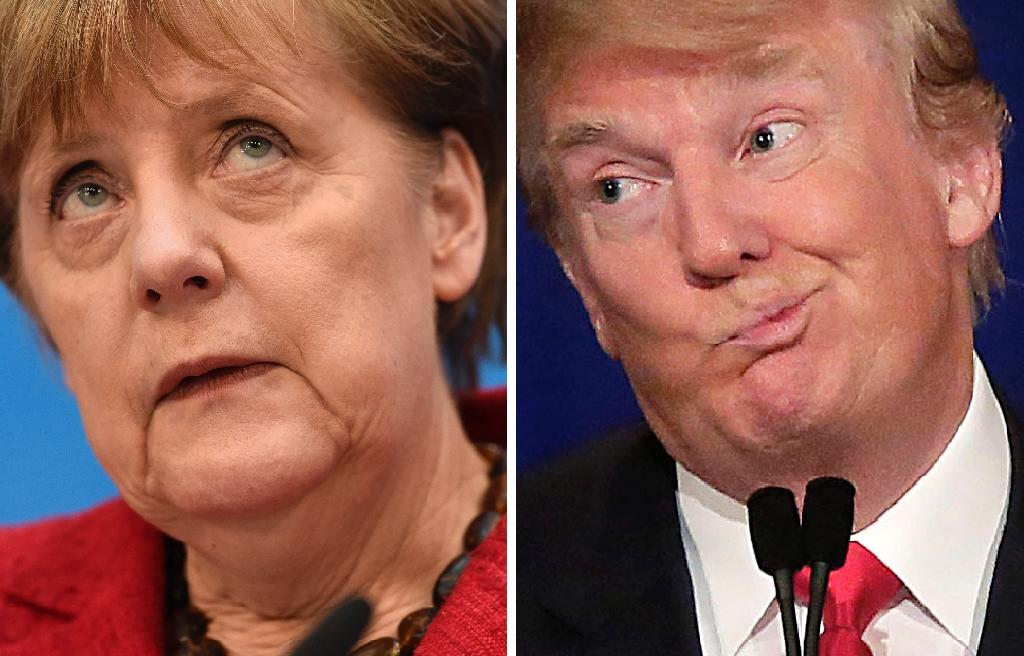 With fears growing in Europe over Donald Trump's commitment to the transatlantic alliance and over signs he will pivot towards Russia, German Chancellor Angela Merkel warns that Europe now has to take responsibility for itself (AFP Photo/Odd ANDERSEN, Joshua LOTT)