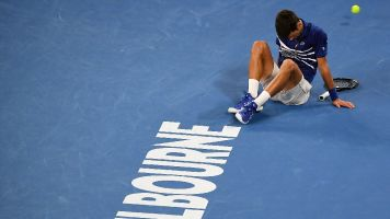 Drained Djokovic grinds way past Medvedev