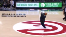 This Atlanta Hawks fan hit a halfcourt shot for $10,000 with so much swagger