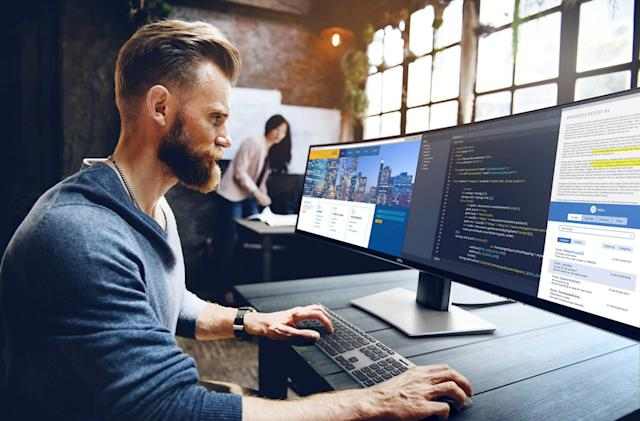 Dell's 49-inch ultra-wide monitor is built for extreme multitasking