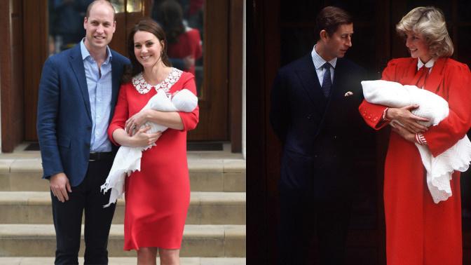 Kate Middleton channels Princess Diana to debut royal baby no. 3