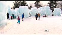 Man-Made Ice Castle Becomes Popular Destination In NH