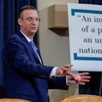 Republicans are once again using massive signs to defend Trump during an impeachment hearing, this time using Democrats' own words
