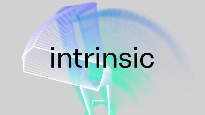 Intrinsic logo for Alphabet X moonshot covering industrial robots