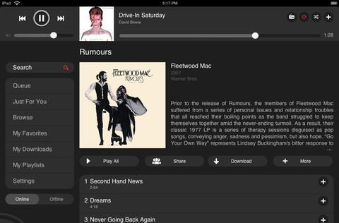 MOG launches iPad app, adds to the list of slate-streaming options