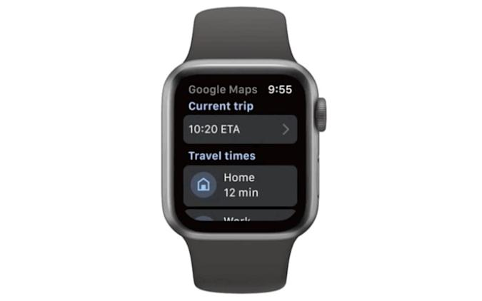Google Maps on the Apple Watch