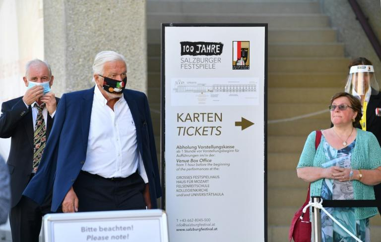 The prestigious Salzburg Festival is going ahead this year, despite the coronavirus pandemic (AFP Photo/BARBARA GINDL)