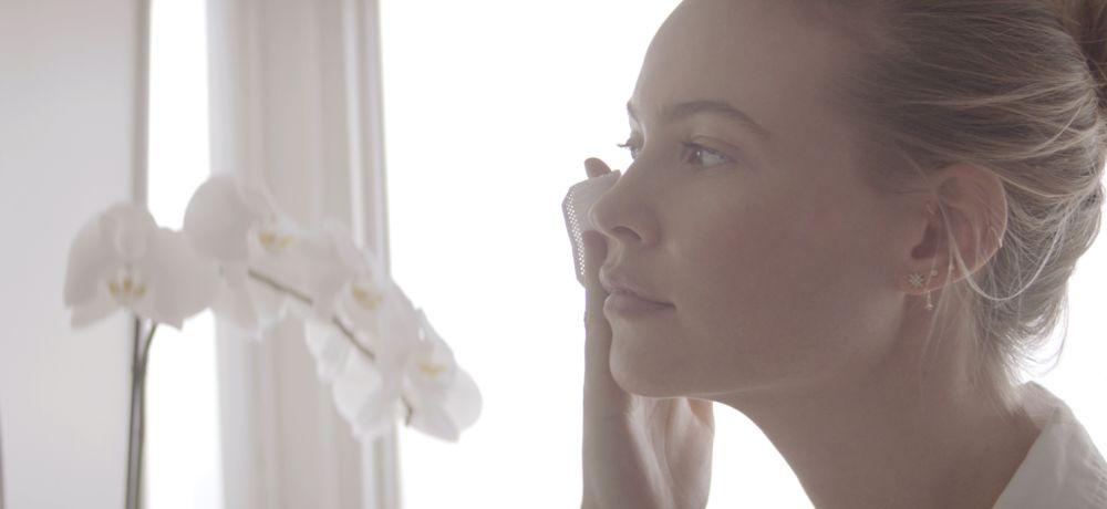 Behati Prinsloo is preparing for her return to modeling with SK-II.