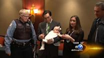 Baby's health scare ends happily thanks to Good Samaritans
