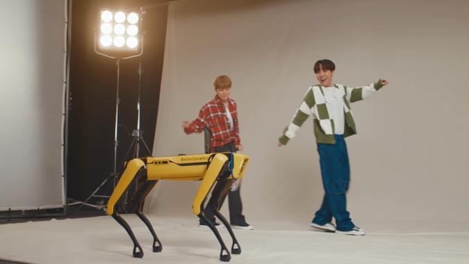 BTS dancing with Boston Dynamics robot Spot