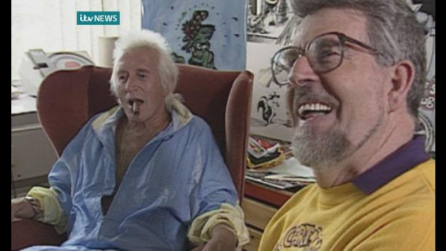 Footage from 1992 shows Harris and Savile together