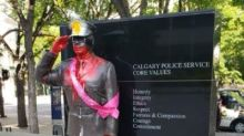 Statues honouring Calgary police and firefighters vandalized