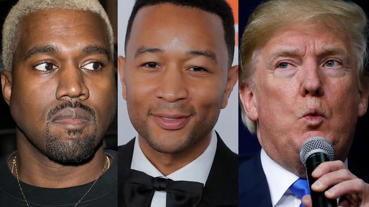 Kanye West And John Legend Talk Trump At Chrissy Teigen's Baby Shower