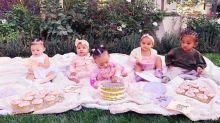 The Kardashian's adorable cousin cupcake party