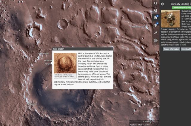 NASA's Mars Trek is Google Earth for the red planet