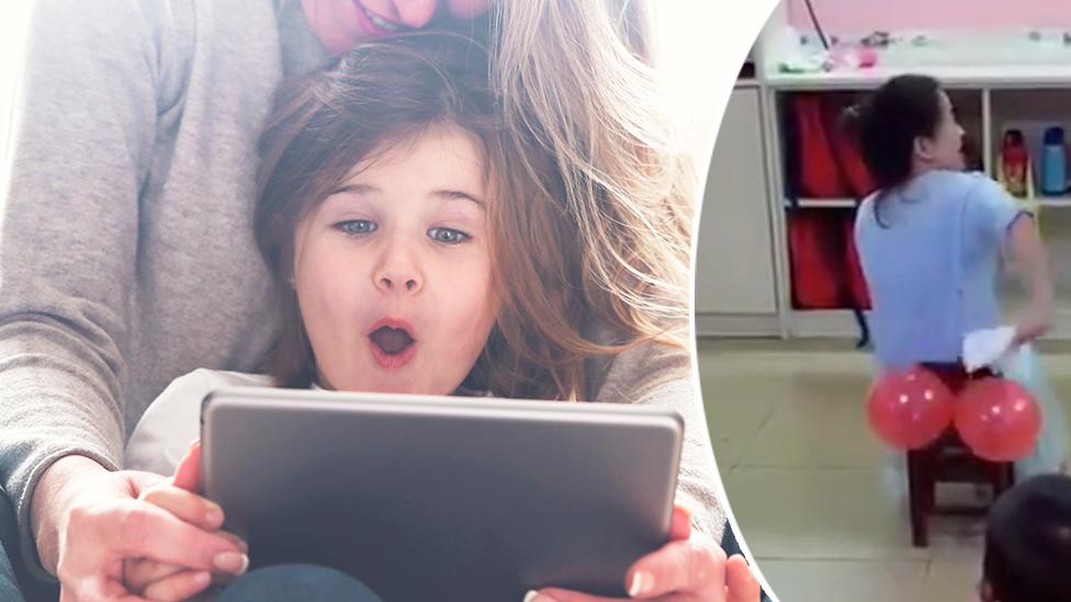Teacher's bottom wiping viral video divides the internet