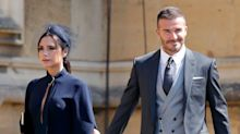 What split? Victoria and David Beckham hold hands and profess their love on 19th anniversary