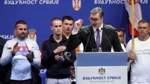 Thousands rally in Belgrade to support Serbia's president Vucic