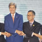 The Latest: Kerry talks with Brunei foreign minister on laws
