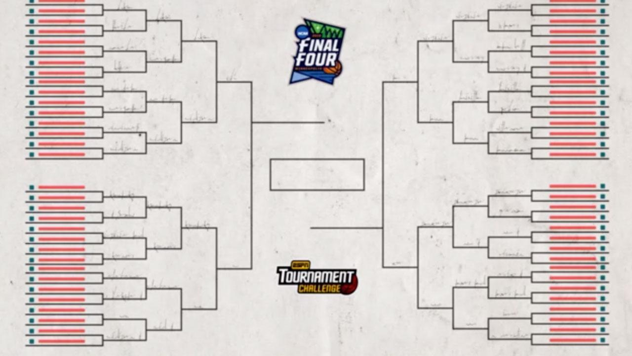 March Madness 2019 Get Your Printable Ncaa Bracket From Espn Video