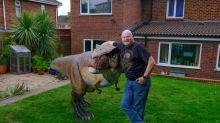 Husband shocks wife with unusual garden installation
