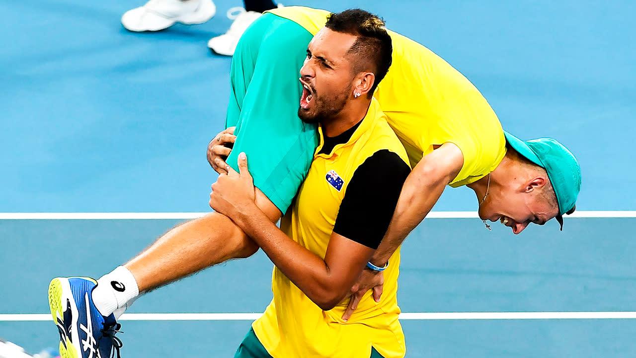 Aussies cop massive Kyrgios and De Minaur blow for Davis Cup