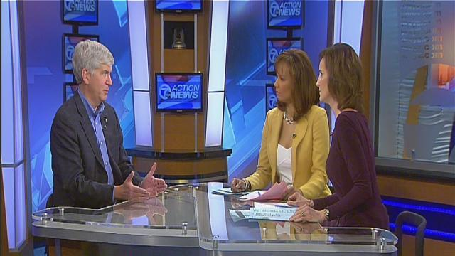 Governor Snyder interview on 7 Action News