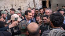 Assad films himself driving to Ghouta to demonstrate victory