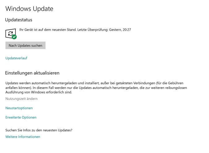Kritische Updates lädt Windows 10 ab sofort immer herunter