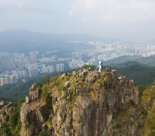 Protesters erect 'Lady Liberty' statue on Hong Kong mountain top