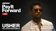 Watch Usher's live-stream concert for Verizon's 'Pay It Forward Live'