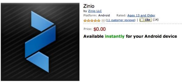 Zinio now available on Amazon Appstore, brings 5,000 magazines to Kindle Fire