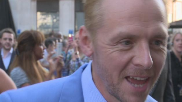 Simon Pegg interview at The World's End premiere
