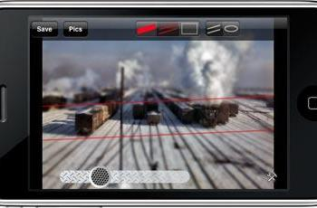 TiltShift brings miniature faking to the iPhone