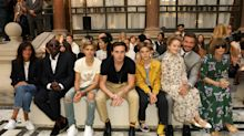 Victoria Beckham's front row at London Fashion Week was filled with family and stylish celebrities